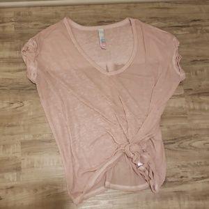 Free People Blush Pink Tshirt